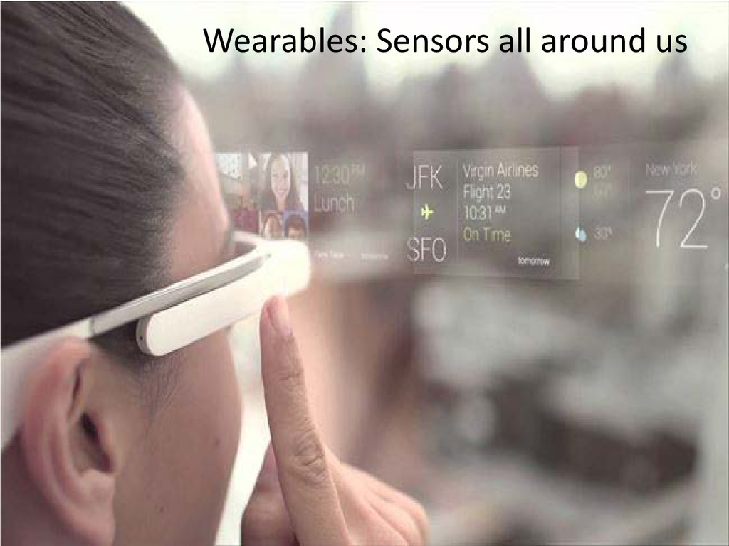 Wearables: Sensors all around us