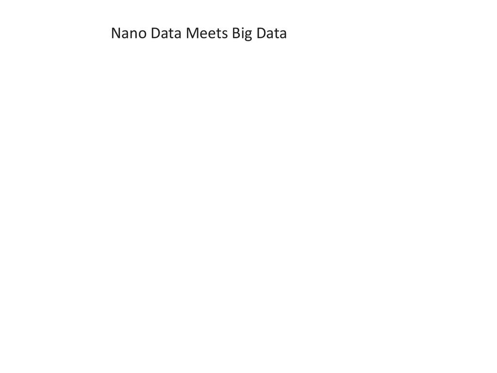 Nano Data Meets Big Data