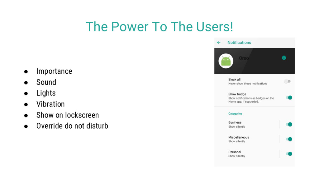 The Power To The Users! ● Importance ● Sound ● ...