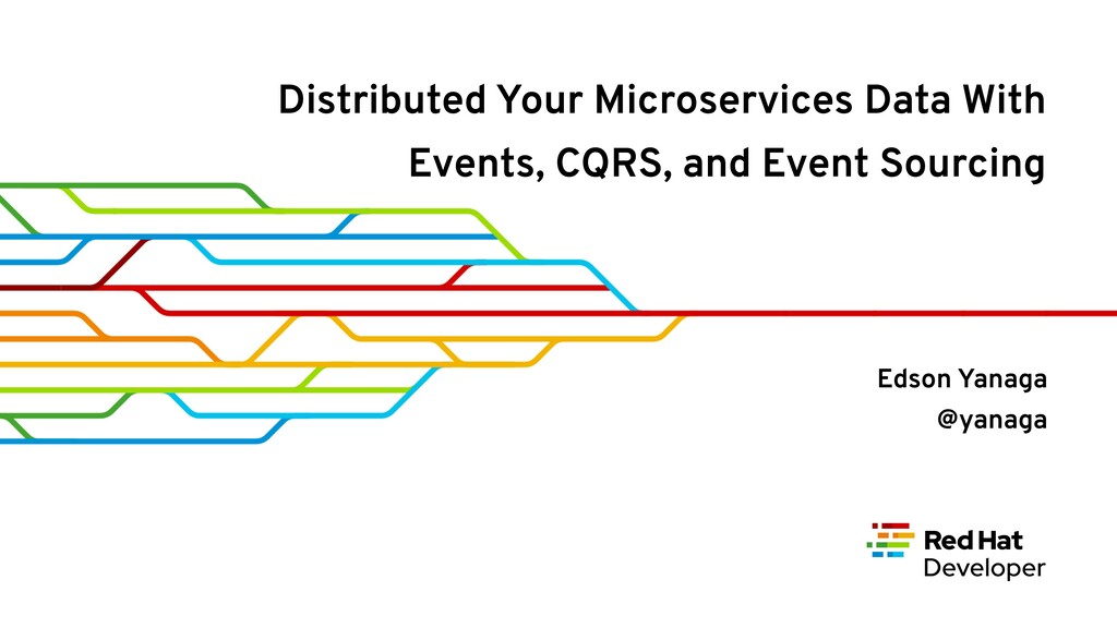 Distributed Your Microservices Data With Events...