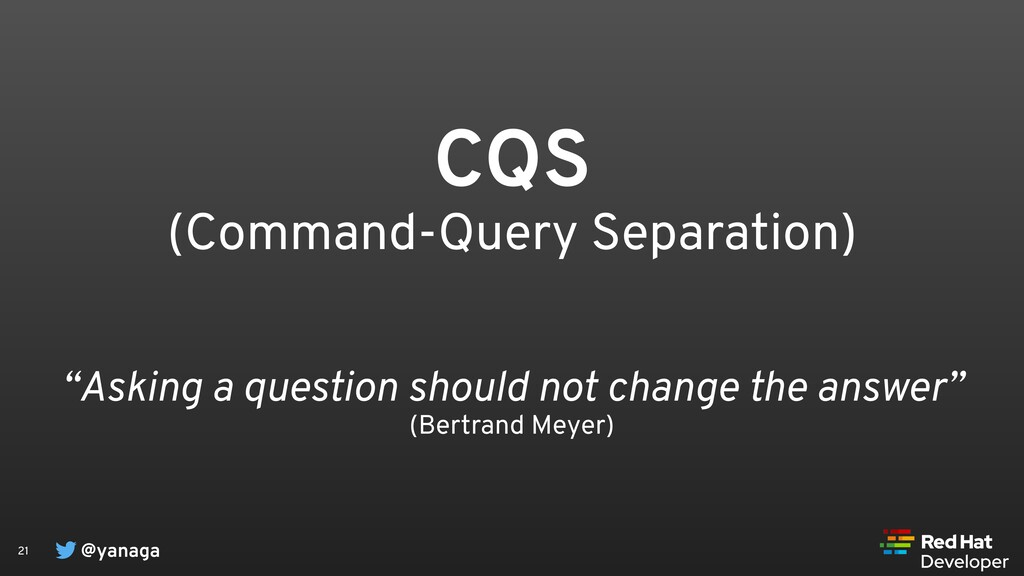"@yanaga 21 CQS (Command-Query Separation) ""Aski..."
