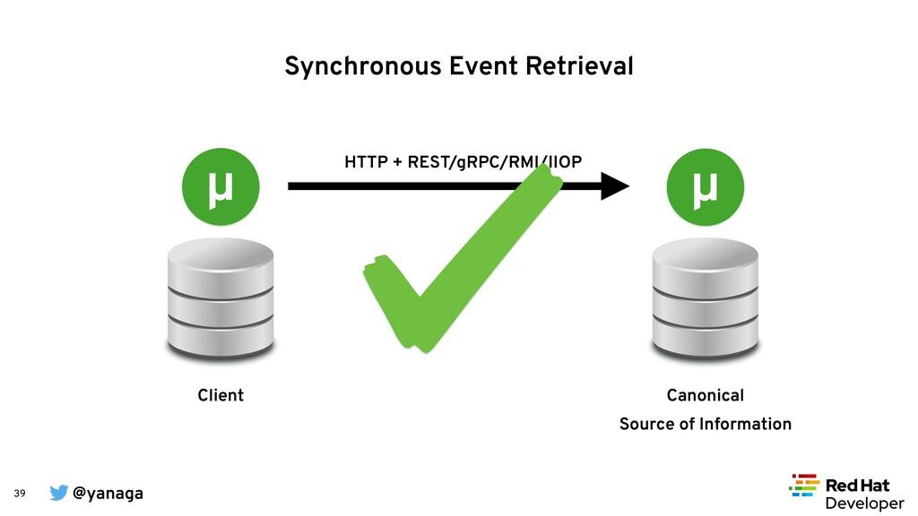 @yanaga 39 HTTP + REST/gRPC/RMI/IIOP Synchronou...