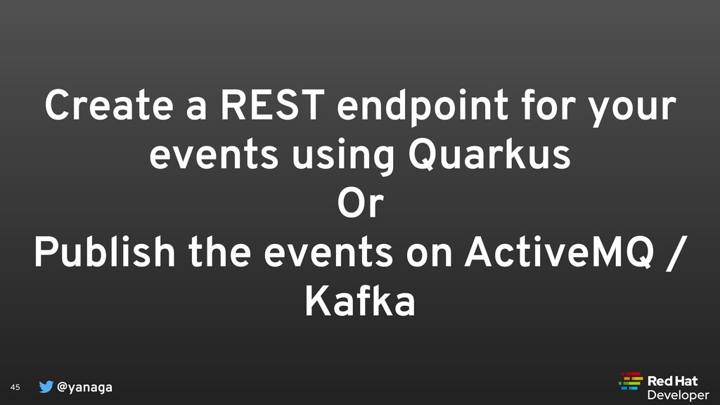 @yanaga 45 Create a REST endpoint for your even...