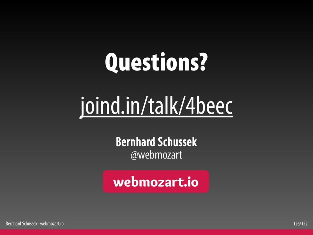 Bernhard Schussek · webmozart.io 126/122 Questi...