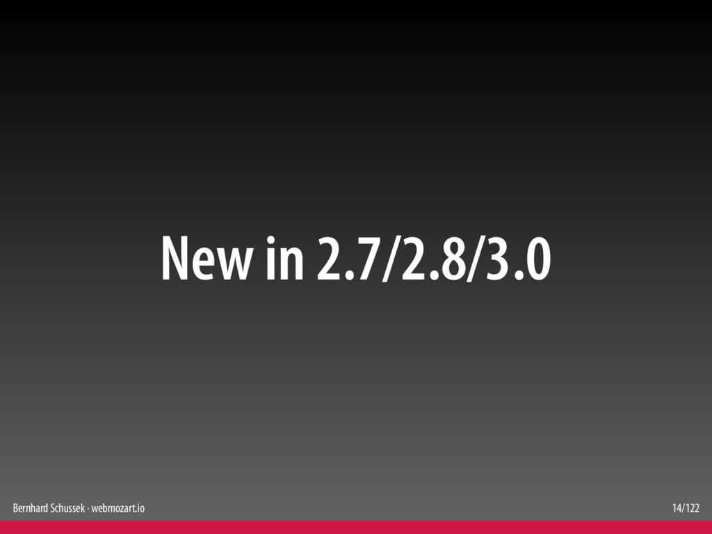 Bernhard Schussek · webmozart.io 14/122 New in ...