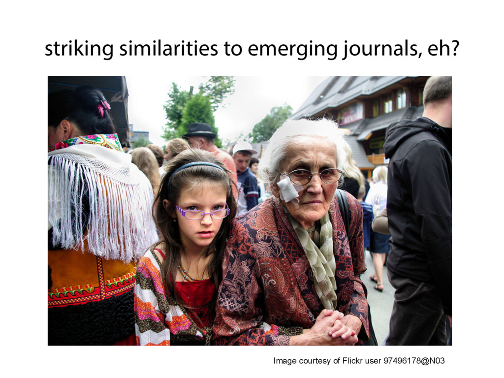 striking similarities to emerging journals, eh?...