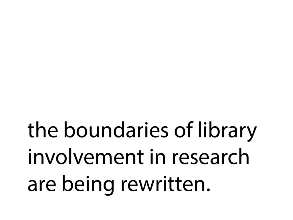 the boundaries of library involvement in resear...