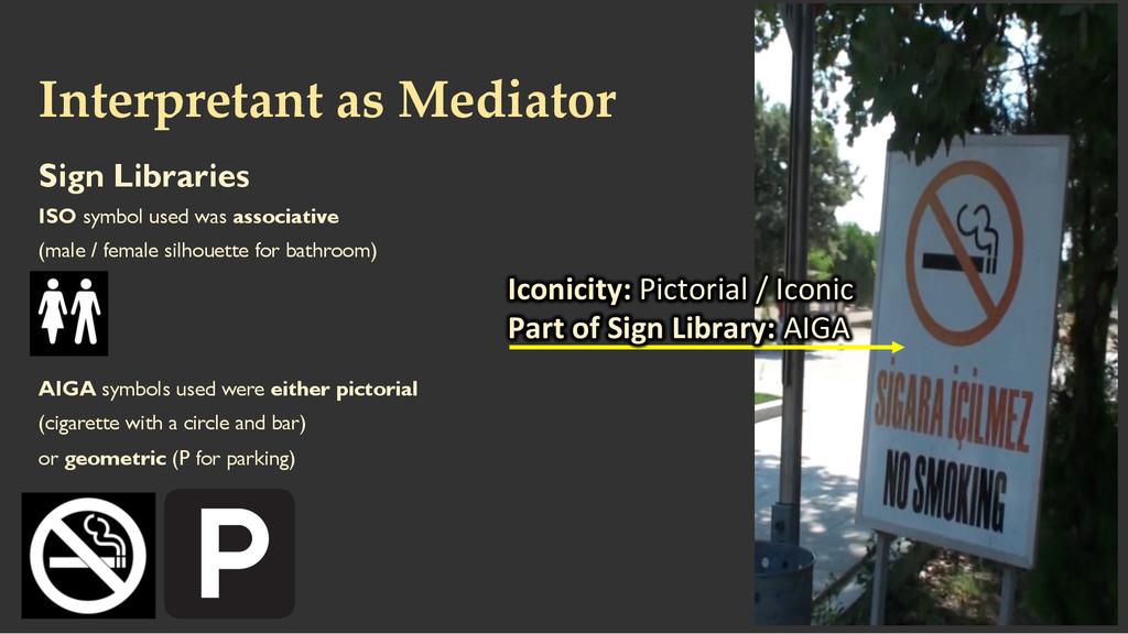 Interpretant as Mediator Sign Libraries ISO...