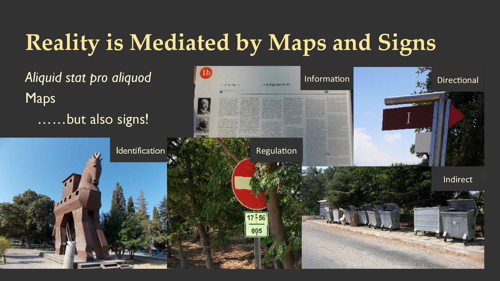 Reality is Mediated by Maps and Signs A...
