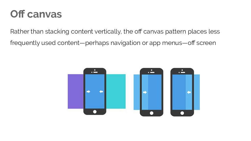 Off canvas Rather than stacking content vertical...