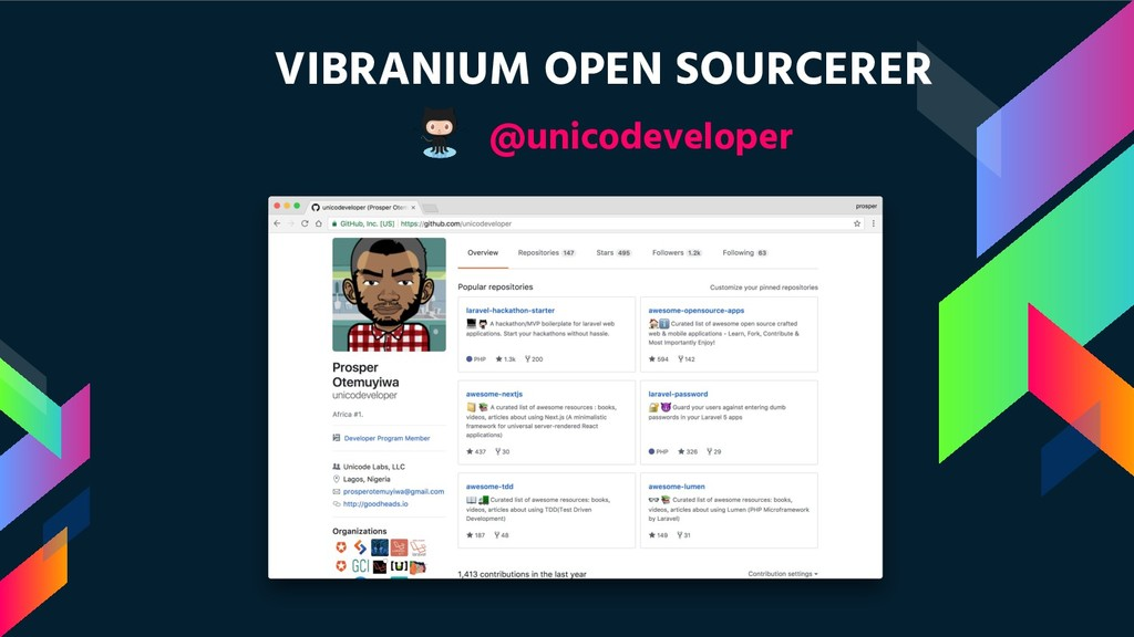 VIBRANIUM OPEN SOURCERER @unicodeveloper