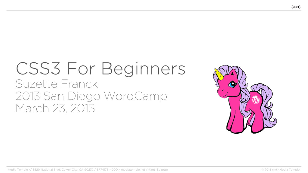 CSS3 For Beginners Suzette Franck 2013 San Dieg...
