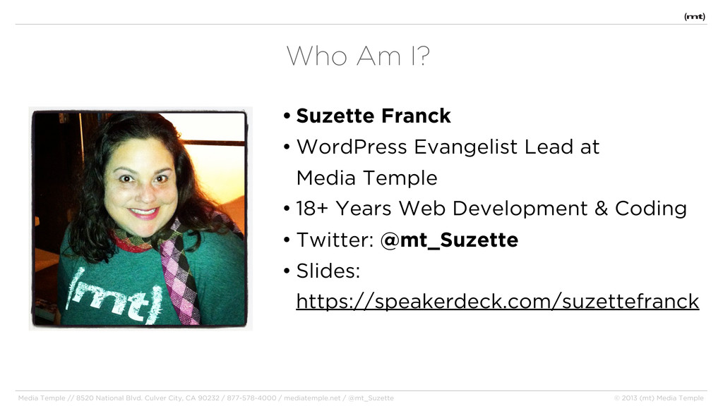 • Suzette Franck • WordPress Evangelist Lead at...
