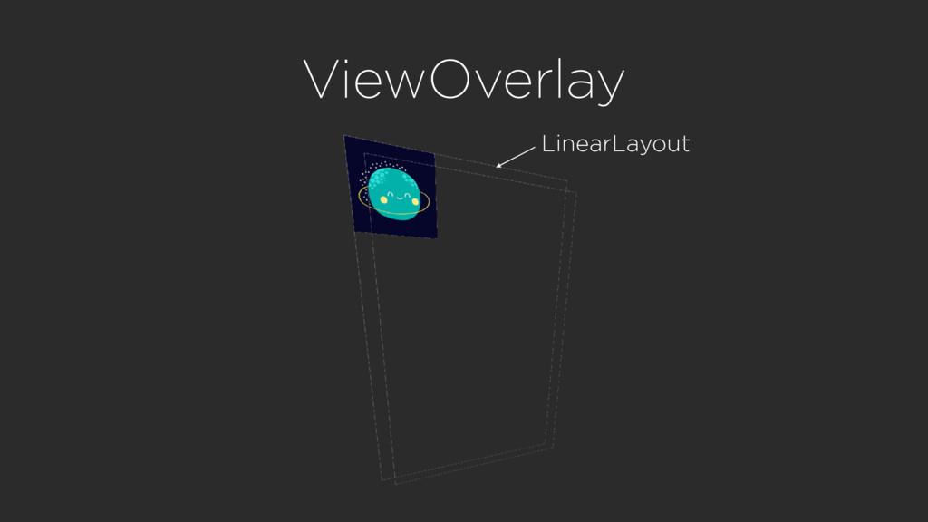 ViewOverlay LinearLayout
