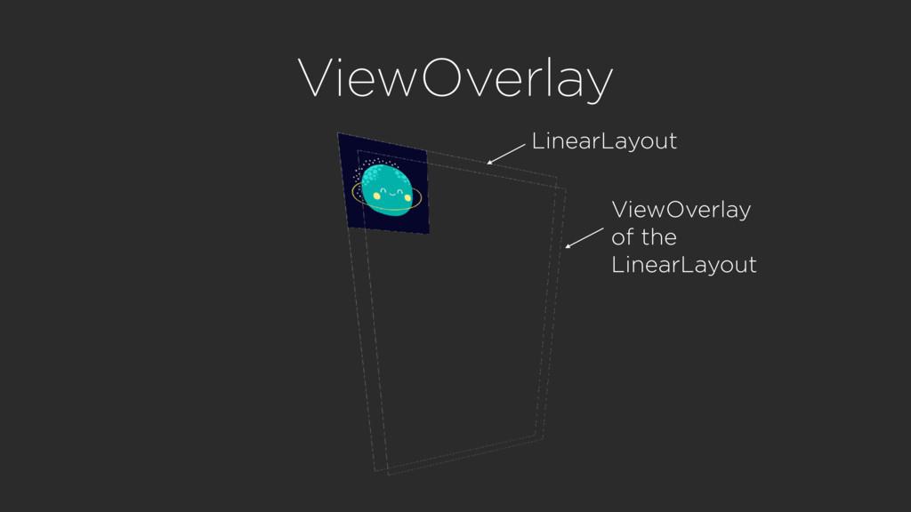 ViewOverlay LinearLayout ViewOverlay of the Lin...