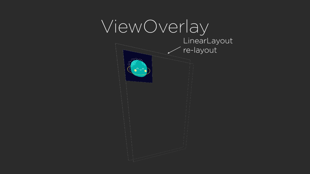 ViewOverlay LinearLayout re-layout