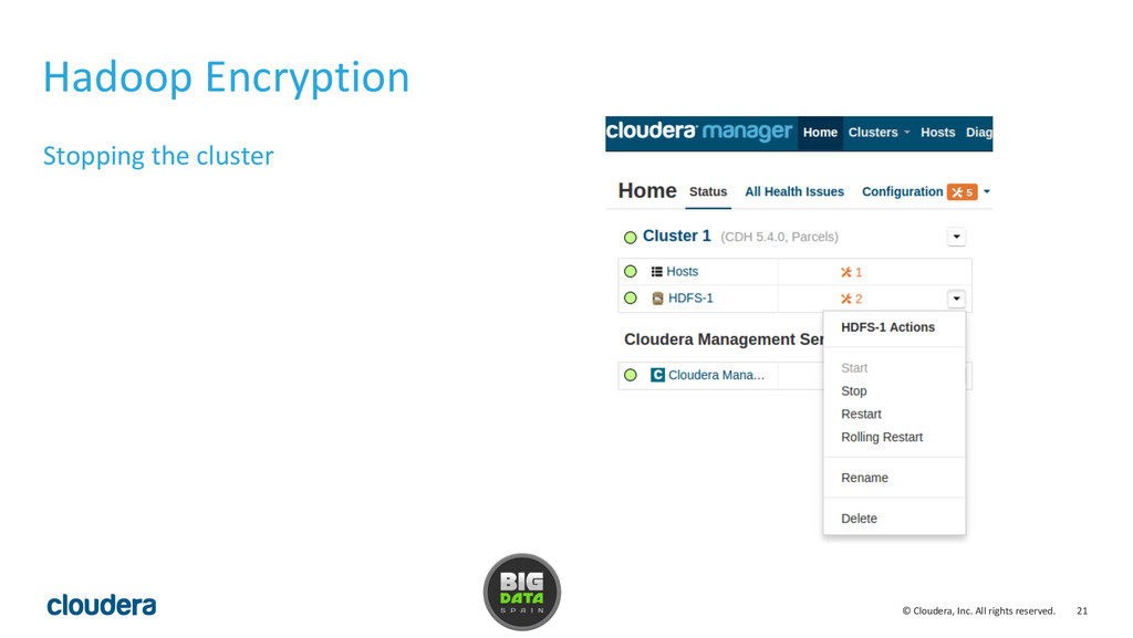 21 © Cloudera, Inc. All rights reserved. Hadoop...