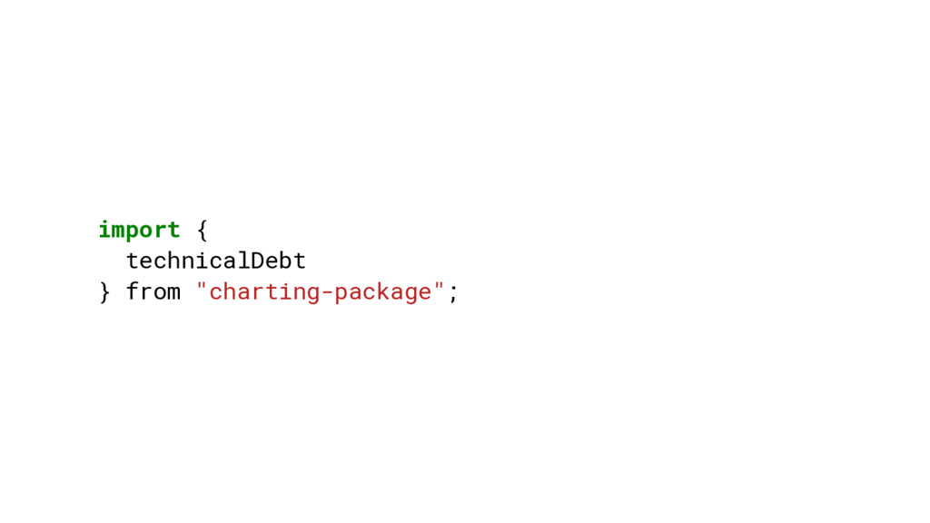 """import { technicalDebt } from """"charting-package..."""