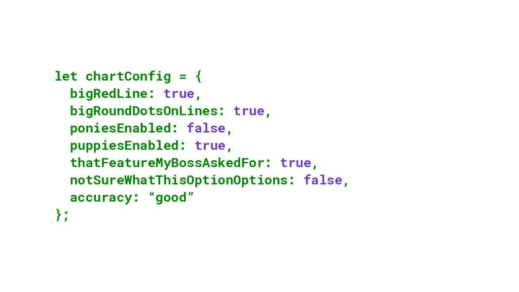 let chartConfig = { bigRedLine: true, bigRoundD...