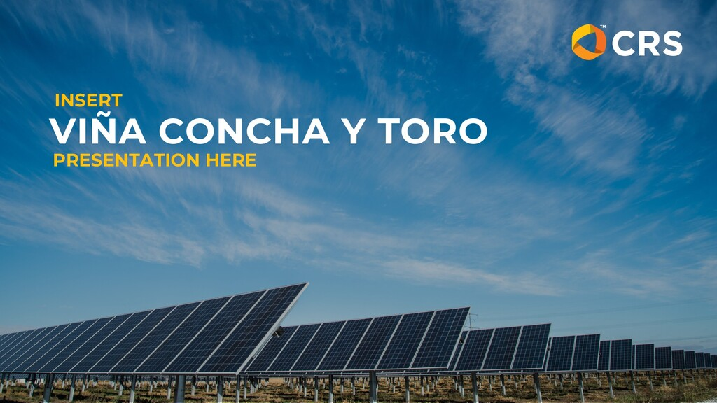 VIÑA CONCHA Y TORO PRESENTATION HERE INSERT