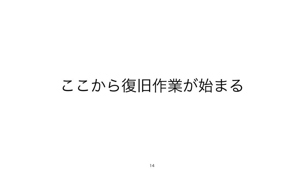 ͔͜͜Β෮چ࡞ۀ͕·Δ