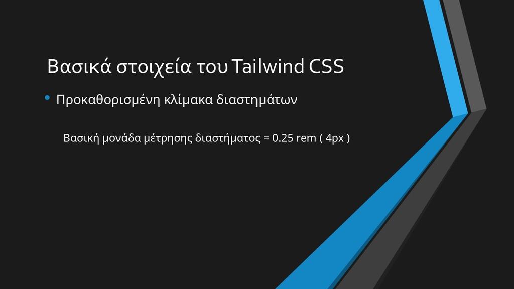 Βασικά στοιχεία του Tailwind CSS • Προκαθορισμέ...