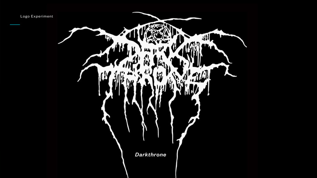 Darkthrone Logo Experiment