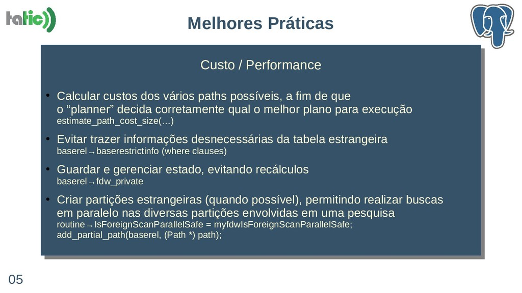 Custo / Performance ● Calcular custos dos vário...