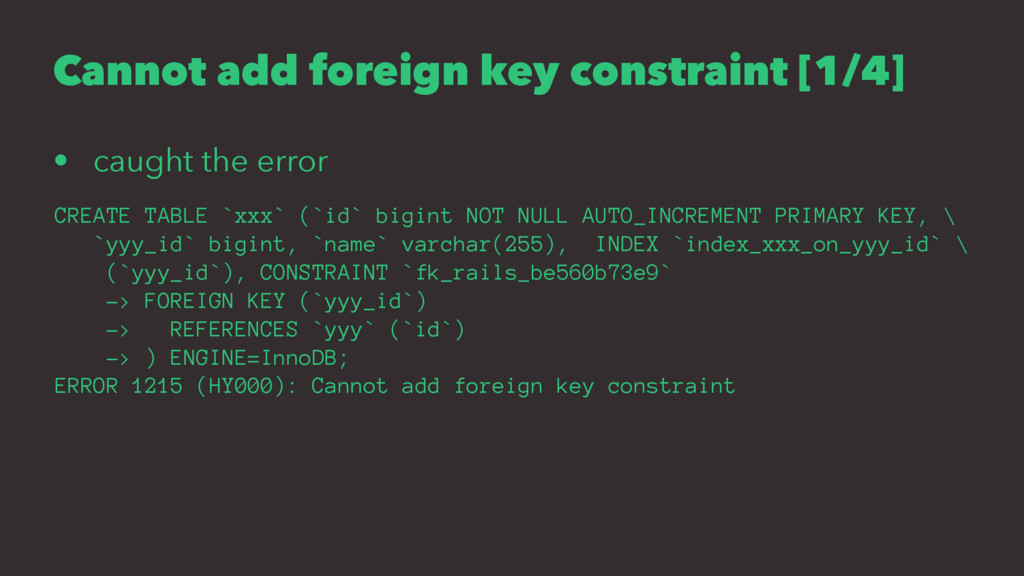 Cannot add foreign key constraint [1/4] • caugh...