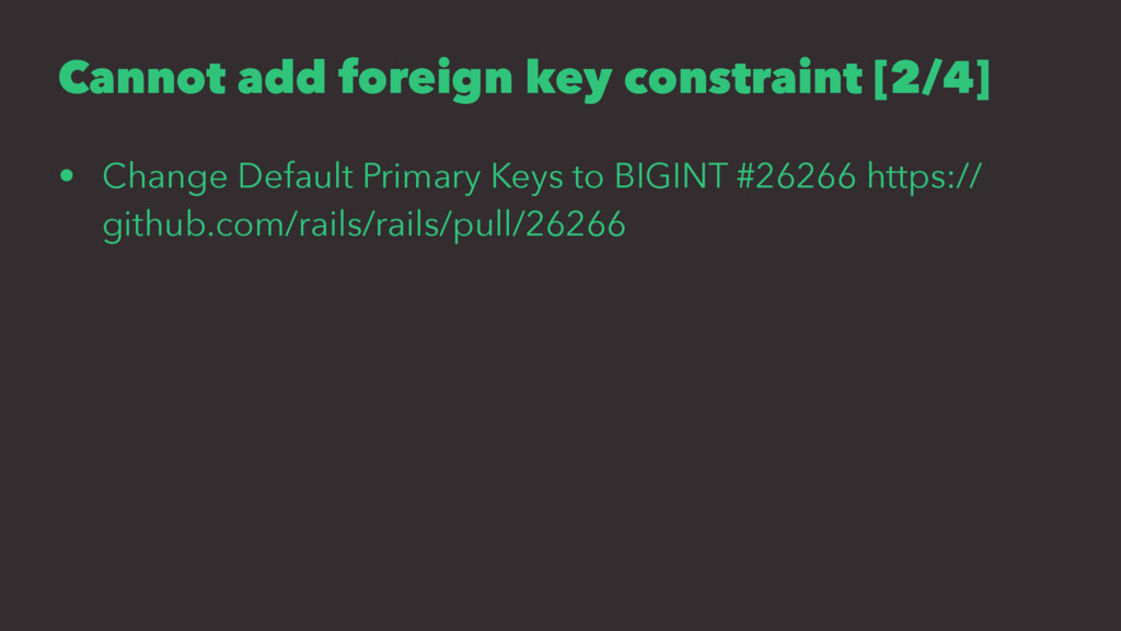 Cannot add foreign key constraint [2/4] • Chang...