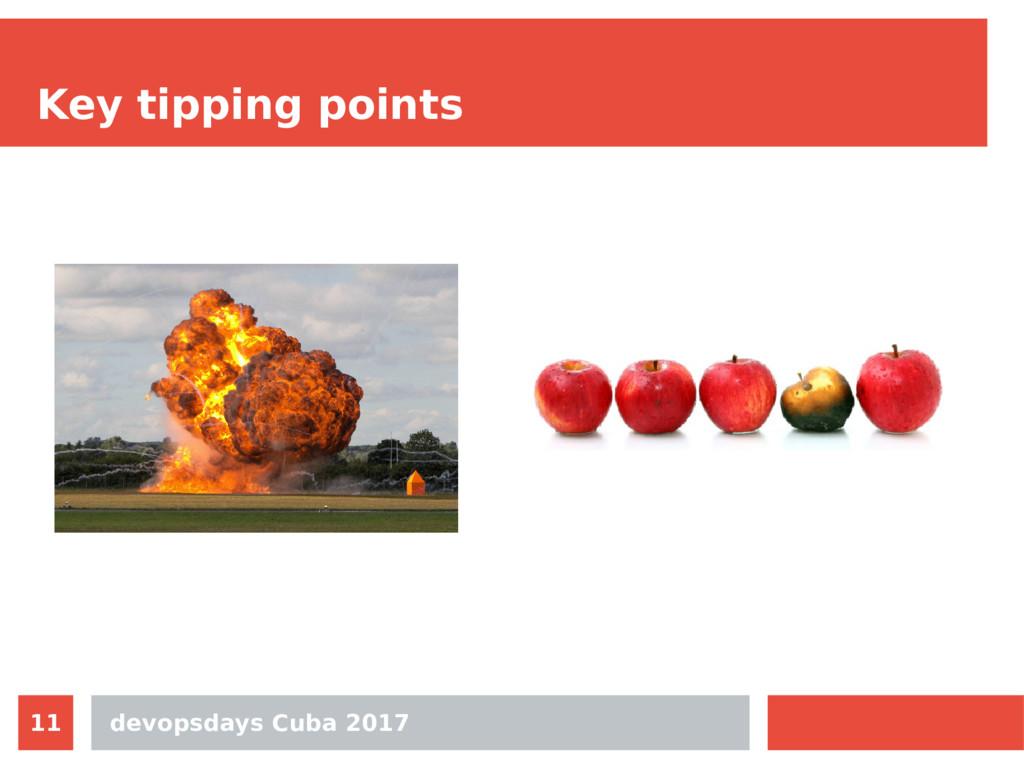 devopsdays Cuba 2017 11 Key tipping points