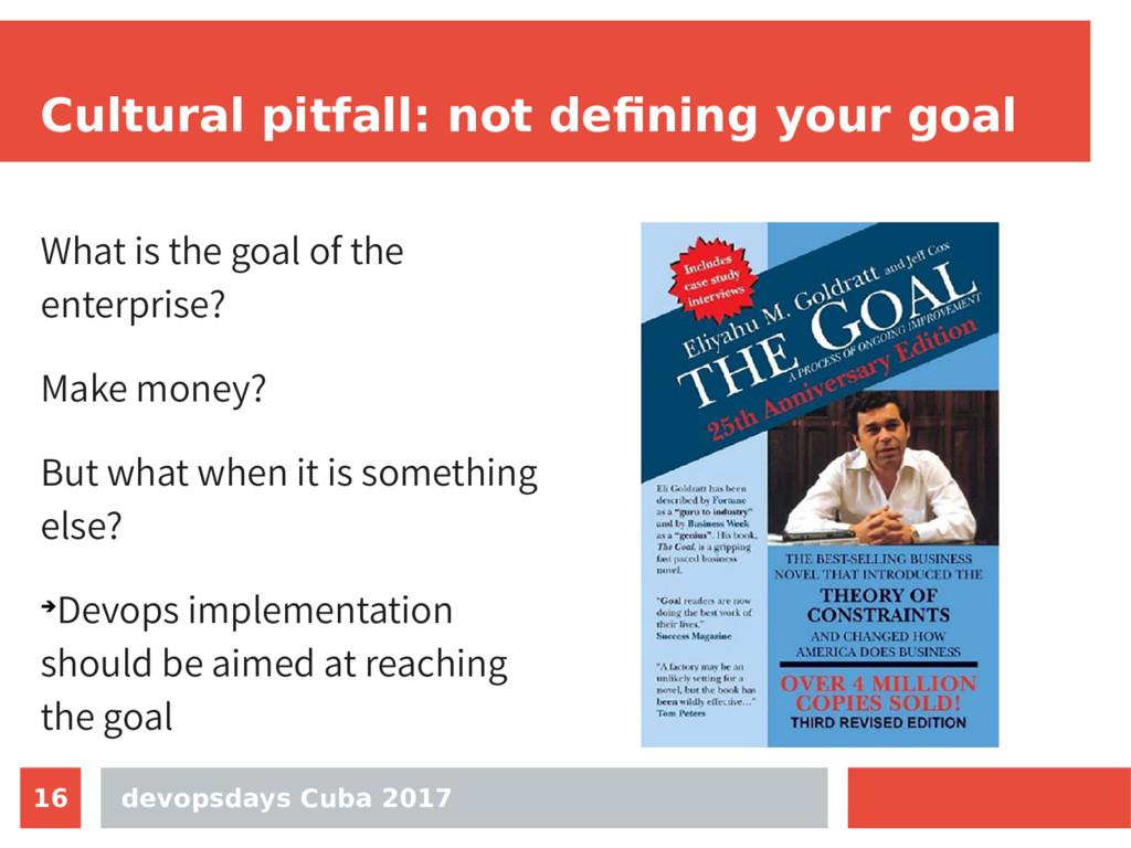 devopsdays Cuba 2017 16 Cultural pitfall: not d...