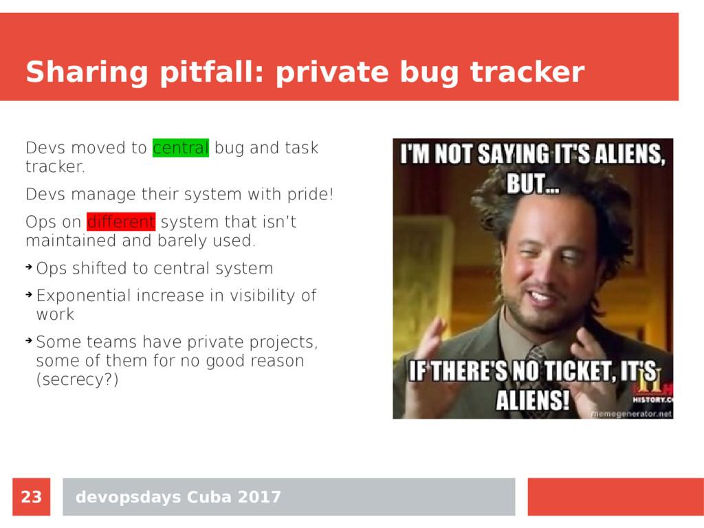 devopsdays Cuba 2017 23 Sharing pitfall: privat...