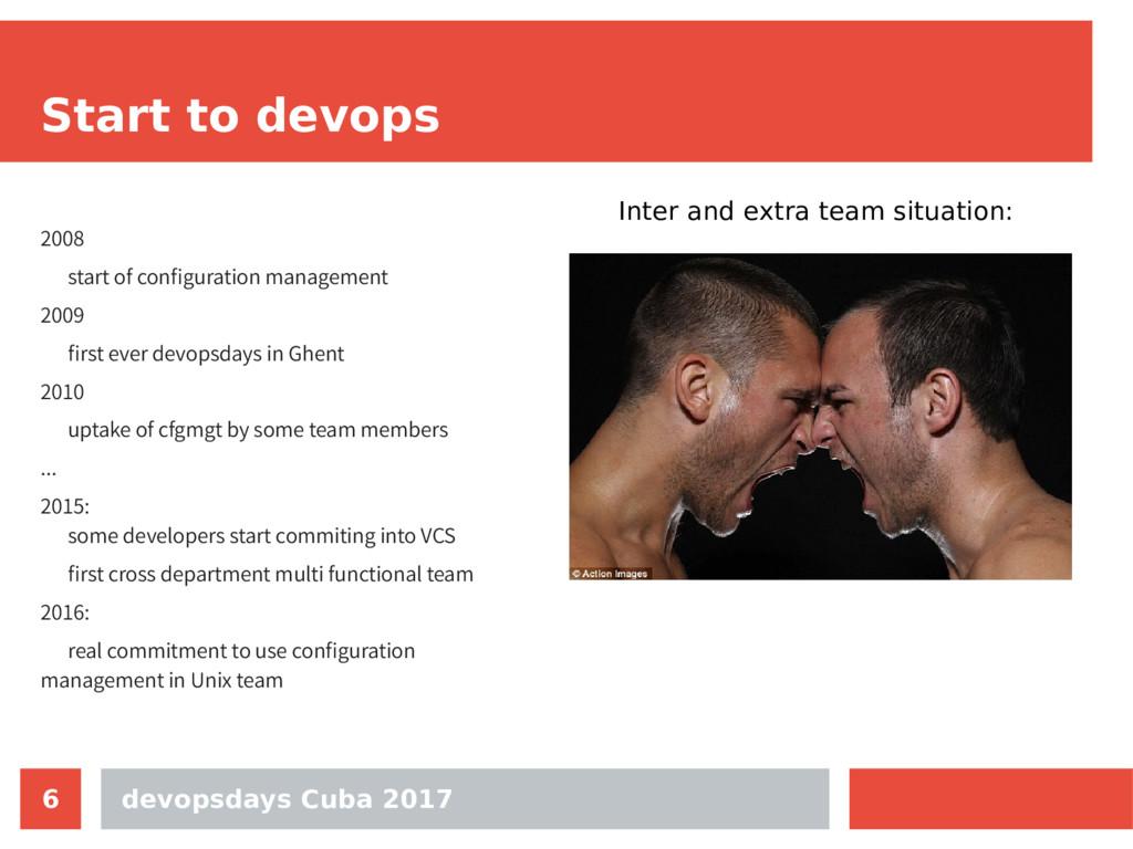 devopsdays Cuba 2017 6 Start to devops 2008 sta...