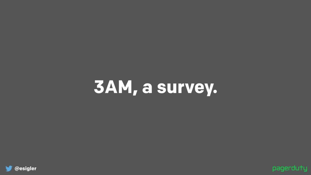 @esigler 3AM, a survey.