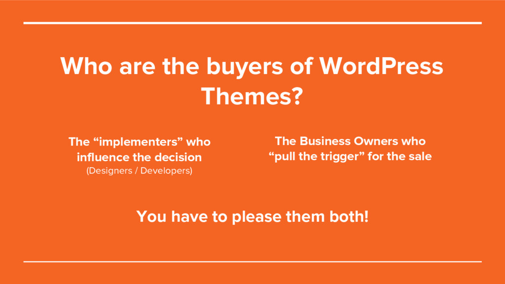 Who are the buyers of WordPress Themes? The Bus...