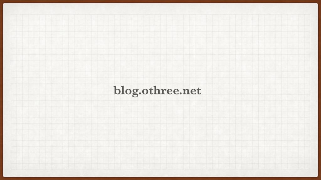 othree.net blog.