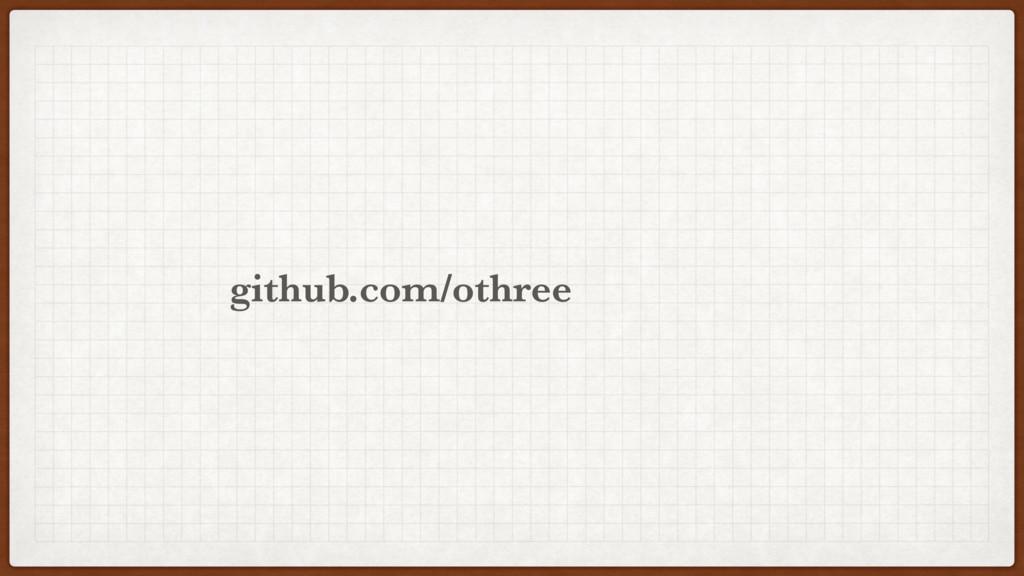 othree github.com/