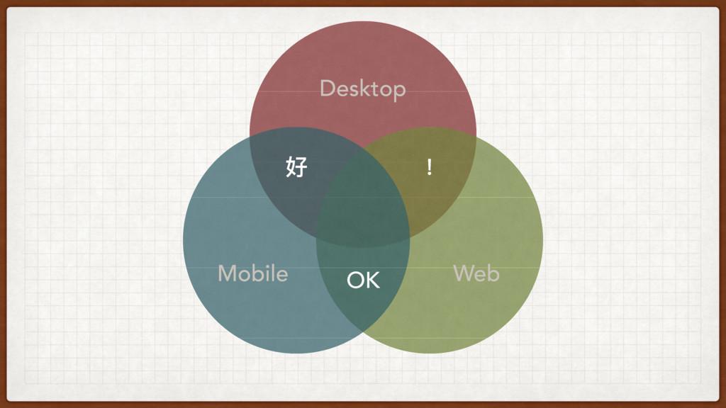 Desktop Mobile Web 牦 অ OK