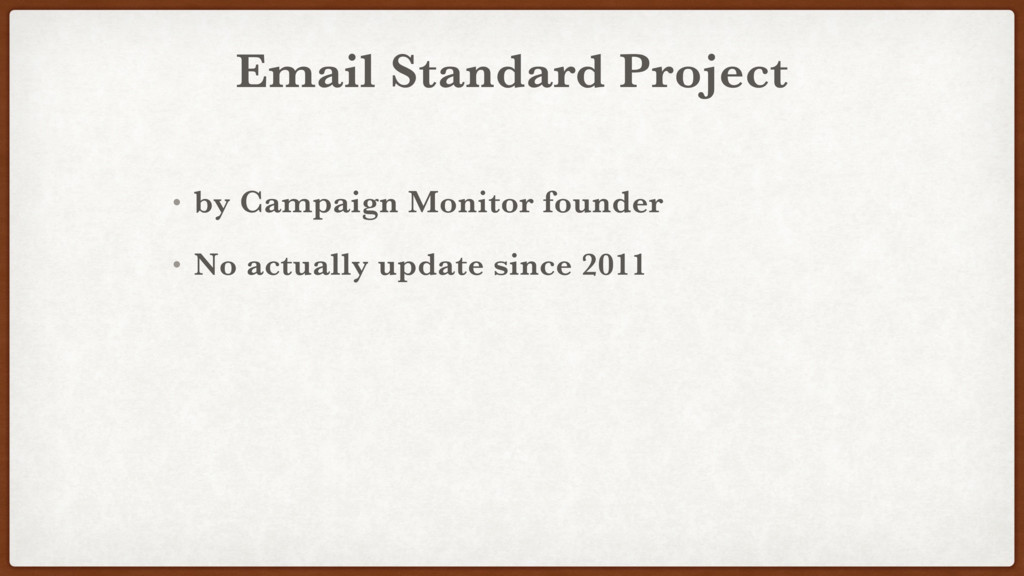 Email Standard Project • by Campaign Monitor fo...