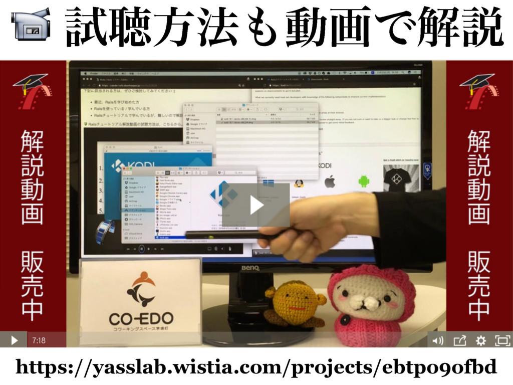 ࢼௌํ๏ಈըͰղઆ https://yasslab.wistia.com/projects...