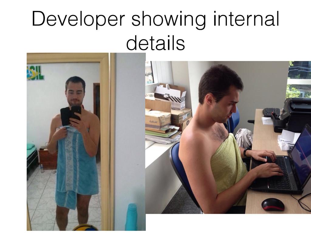 Developer showing internal details