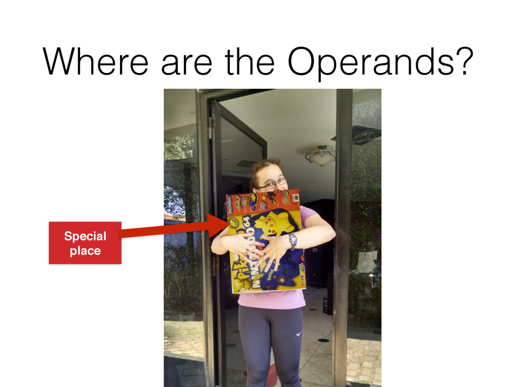Where are the Operands? Special place