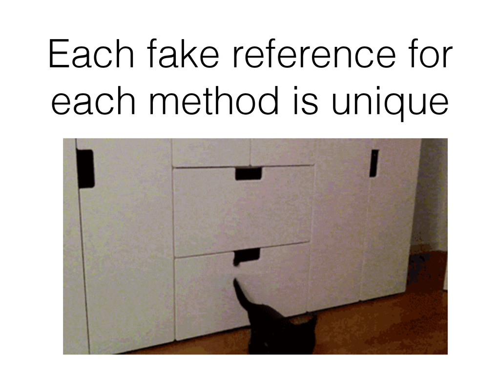 Each fake reference for each method is unique