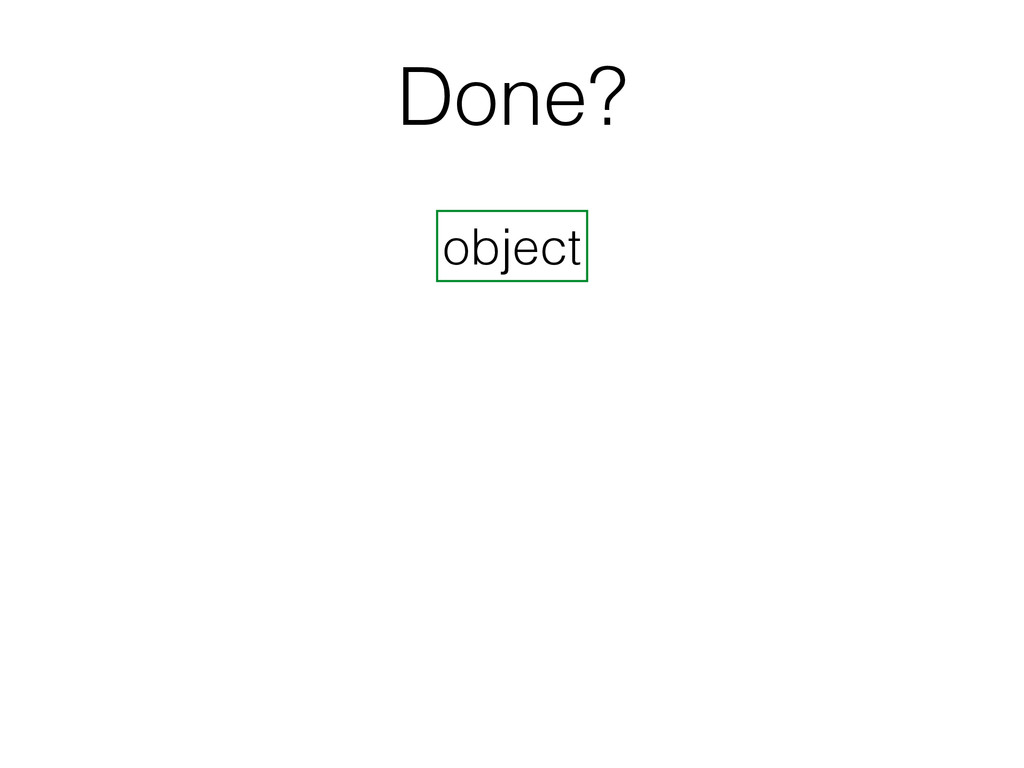 Done? object
