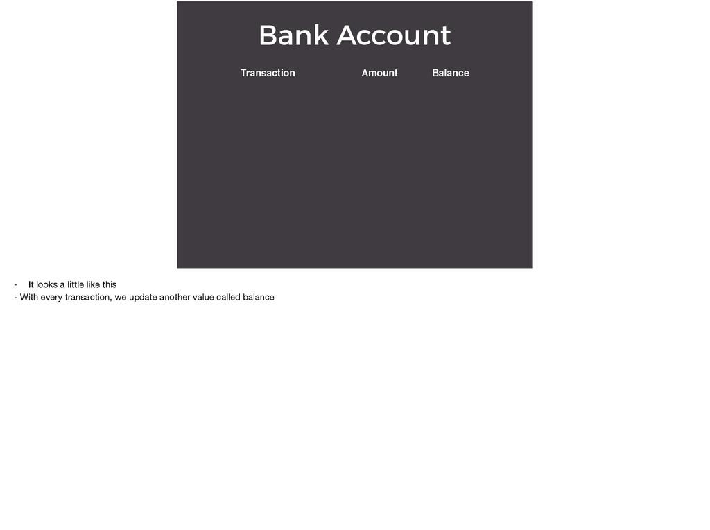 Bank Account Transaction Amount Balance - It lo...