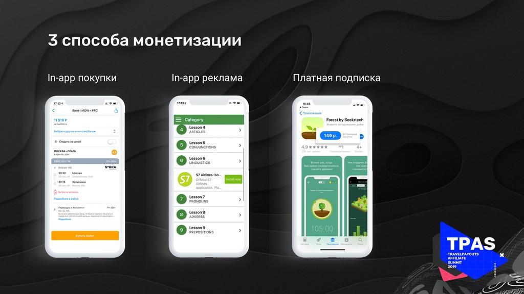 3 способа монетизации In-app покупки In-app рек...
