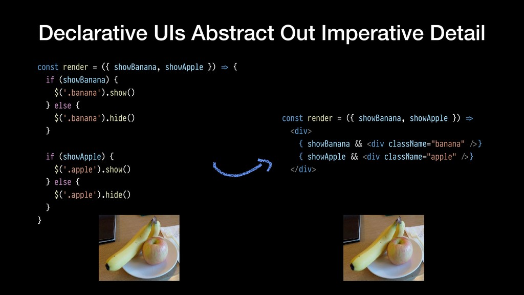 Declarative UIs Abstract Out Imperative Detail ...