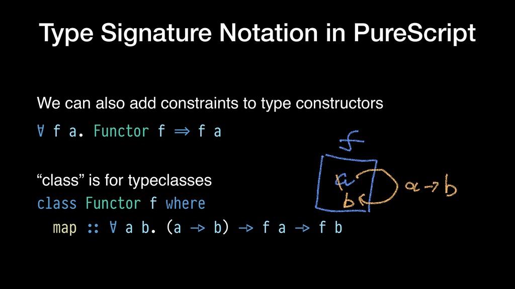 Type Signature Notation in PureScript We can al...