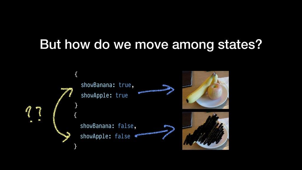 But how do we move among states? { showBanana: ...